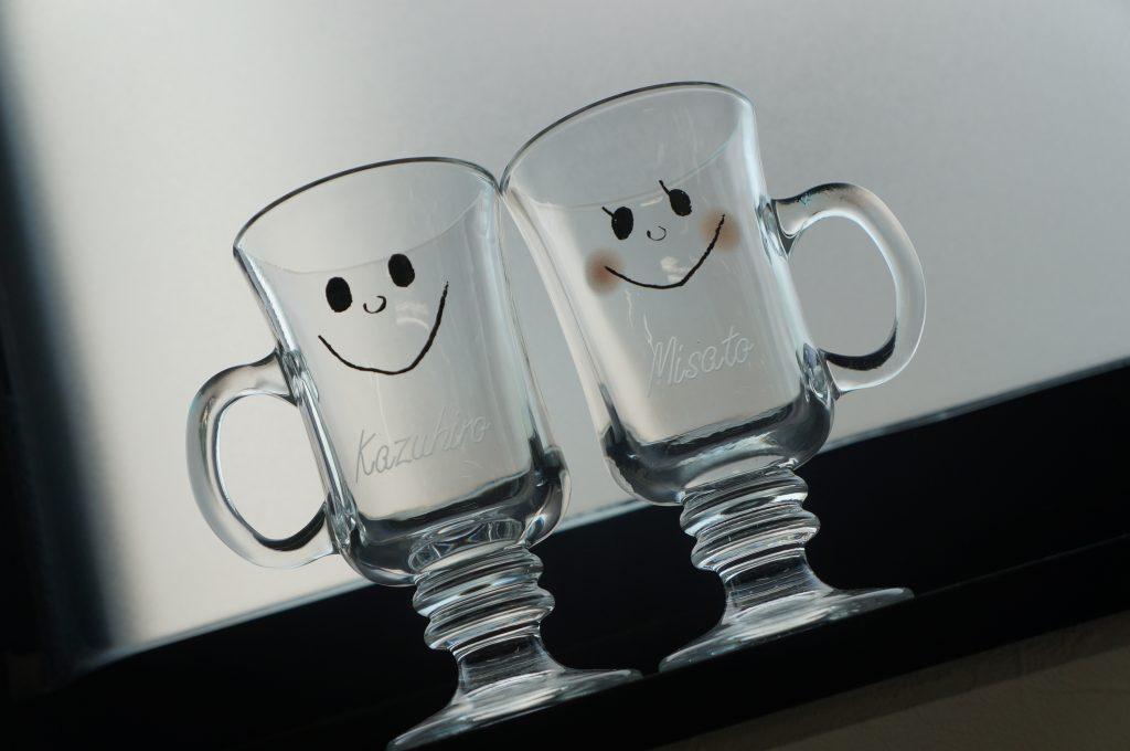オリジナル グラス ワイングラス 名入れ 名前入り プレゼント 記念日 おしゃれ サンドブラスト 彫刻 名前彫刻 結婚祝い 誕生日プレゼント
