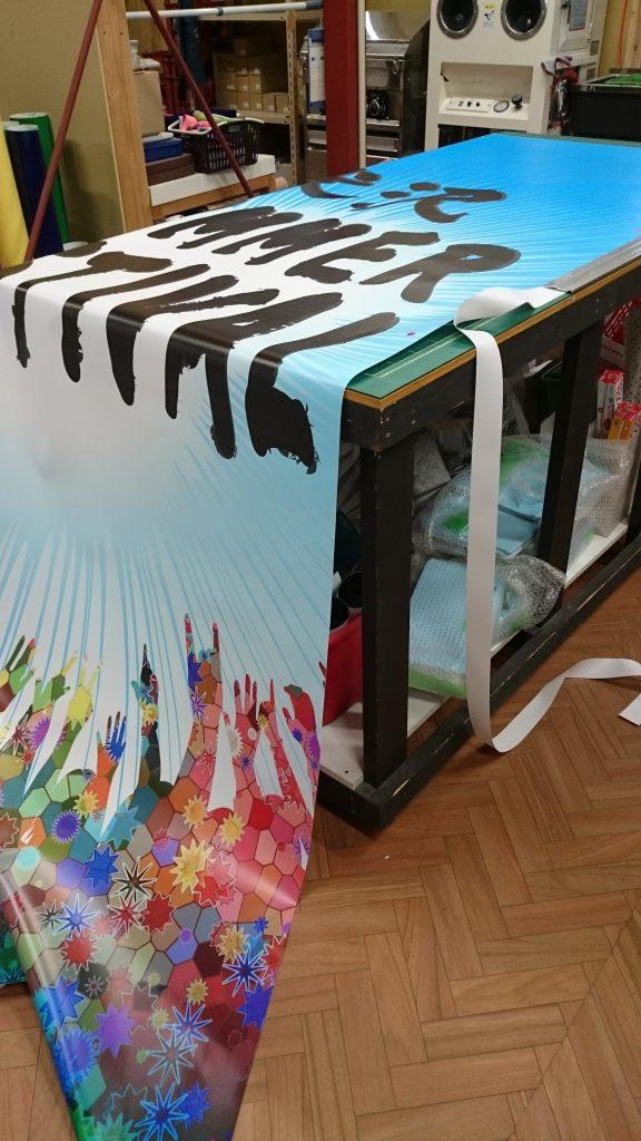 Y1グランプリ Y1グルメ イベント 米沢 山形 米沢市イベント 横断幕 タペストリー 夏祭り おまつり 看板 サイン デザイン