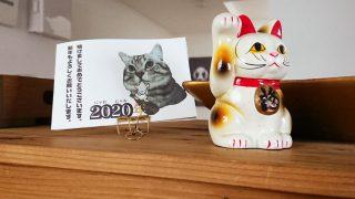 招き猫 猫 にゃんこ 2020年 にゃおにゃお年 新年 デザイン 看板