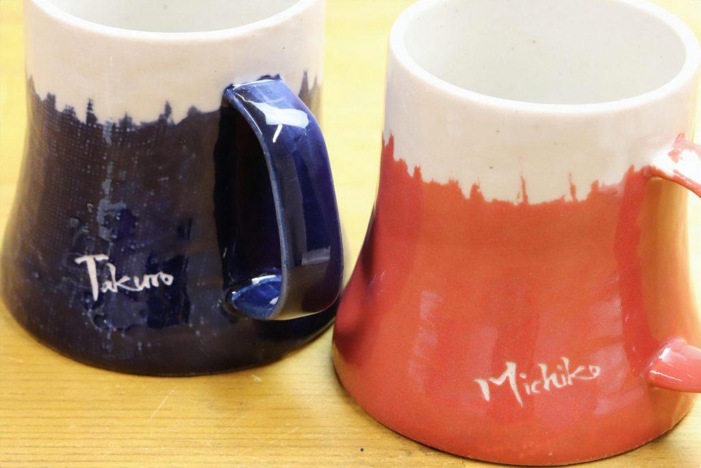 マグカップ 富士マグ 富士山 オリジナル 名入れ 名前入り 彫刻 サンドブラスト ペアマグ